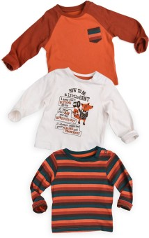 Mothercare Printed Boy's Round Neck T-Shirt Pack Of 3