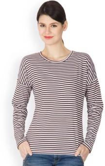 Hypernation Super Striped Women's Round Neck T-Shirt