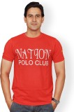 Nation Polo Club Printed Men's Round Nec...