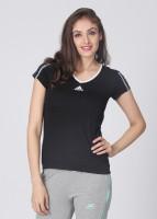 Adidas Solid Women's V-neck T-Shirt