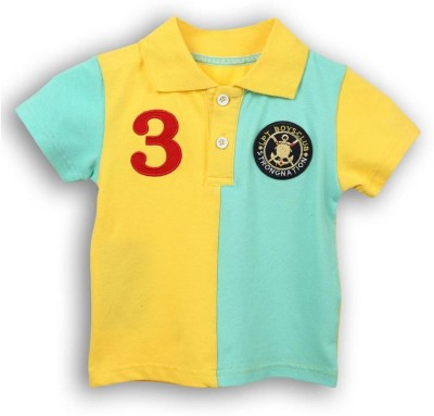 Lilliput Solid Baby Boy's Polo Neck T-Shirt