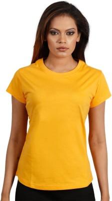Maya Solid Women,s Round Neck T-Shirt