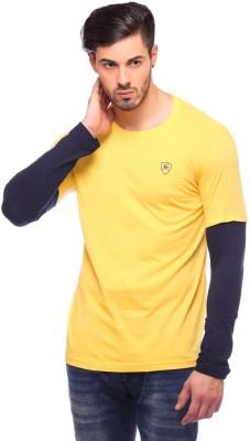 Blue Monkey Solid Men's Round Neck T-Shirt