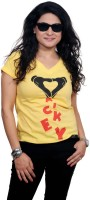 Golden Couture Graphic Print Women's V-neck T-Shirt - TSHEYRFBFXVMHSNJ