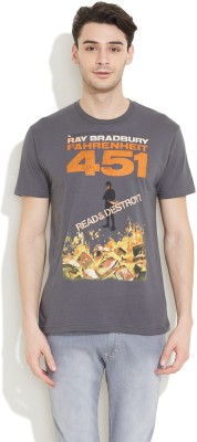 Out of Print Printed Men's Round Neck T-Shirt