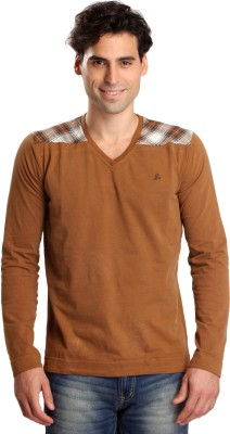 Bombay High Solid Men,s V-neck T-Shirt