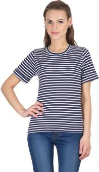 Hypernation Striped Women's Round Neck T-Shirt - TSHE5P3QMPTAQTTY