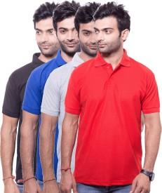 Zuvic Solid Men's Polo Neck Multicolor T-Shirt