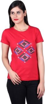Vivid Bharti Graphic Print Women's Round Neck T-Shirt