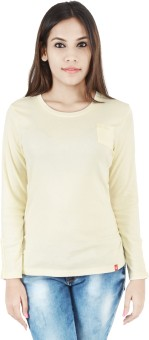 INTEGRITI Solid Women's Round Neck White T-Shirt