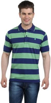 The Cotton Company Striped Men's Polo Neck T-Shirt