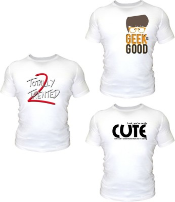 Nut Khut Printed Boy's Round Neck T-Shirt