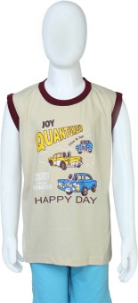 Toons Happy Day Printed Boy's Round Neck T-Shirt