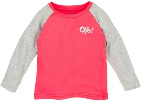 Oye Printed Boy's Round Neck Red T-Shirt