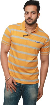 Amstead Striped Men's Polo Neck T-Shirt