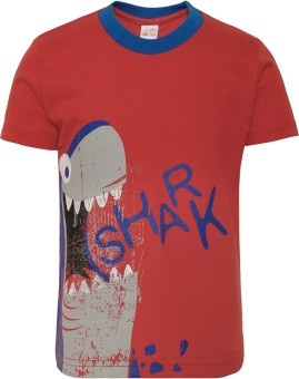 FS Mini Klub Printed Boy's Round Neck Multicolor T-Shirt