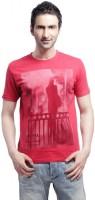 Cross Creek Printed Men's Round Neck T-Shirt - TSHDUDTYZMT4HBRW