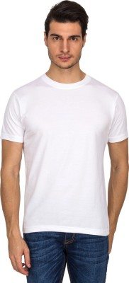 Upright Fabric Solid Men's Round Neck T-Shirt