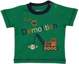 Baby Pure Printed Baby Boy's Round Neck Green T-Shirt