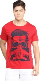 Yepme Graphic Print Men's Scoop Neck Red T-Shirt