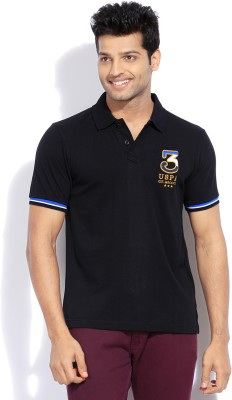 U.S.Polo Assn. Solid Men Polo Neck TShirt