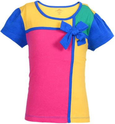 Ello Solid Girl's Round Neck T-Shirt