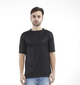 Krazy Katz Solid Men's Round Neck Multicolor T-Shirt