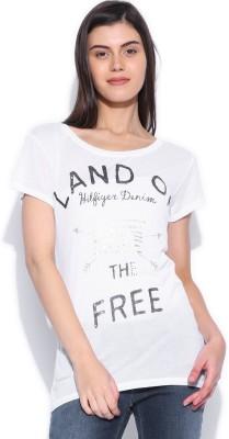 Tommy Hilfiger Printed Womens Round Neck T-Shirt
