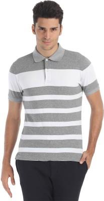 Zobello Striped Men's Polo Neck T-Shirt