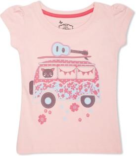 Max Graphic Print Girl's Round Neck T-Shirt
