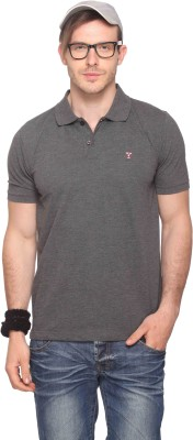 Club York Solid Men's Polo Neck T-Shirt