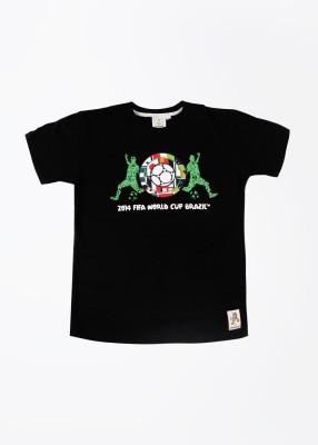 FIFA Printed Boy's Round Neck T-Shirt at flipkart