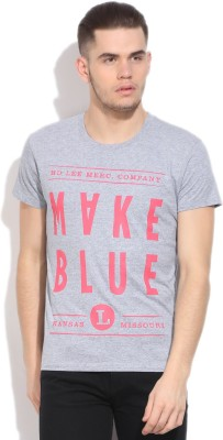 Lee Printed Men's Round Neck T-Shirt
