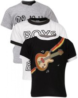 Gkidz Printed Boy's Round Neck T-Shirt - Pack Of 3 - TSHDZNG3YZ58ZG9Q