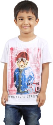 Jack43 Animal Print Boy's Round Neck T-Shirt