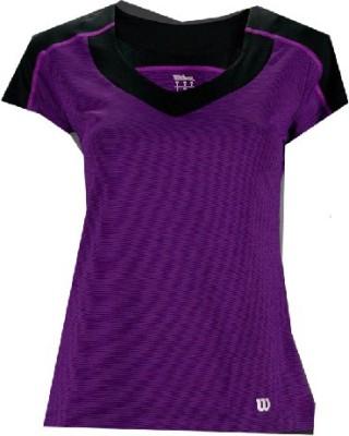 Wilson Solid Women,s V-neck T-Shirt