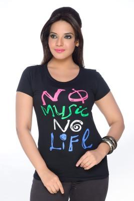 No Problem Printed Women's Round Neck T-Shirt