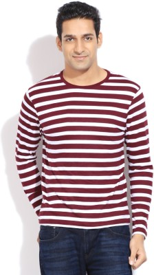 Bossini BOSSINI Striped Men's Round Neck T-Shirt (Red)