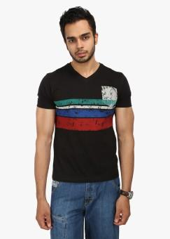 Wear Your Mind Graphic Print Men's V-neck T-Shirt