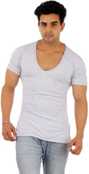 Male Basics Solid Men's Scoop Neck T-Shirt