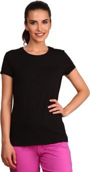 Jockey Solid Women's Round Neck Black T-shirt