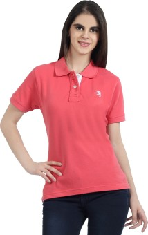 The Cotton Company Luxury Solid Women's Polo Neck T-Shirt - TSHE4ZX5ZVA9AZWY