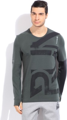 Reebok Printed Men's Round Neck T-Shirt