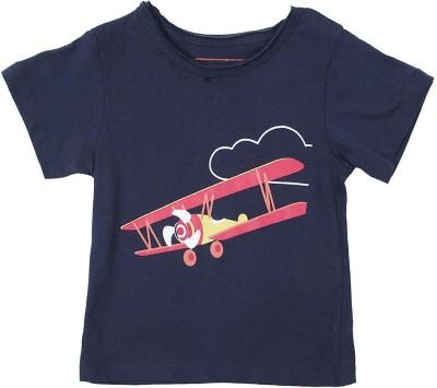 Buy Aomi Self Design Boy 39 S Round Neck T Shirt On Flipkart