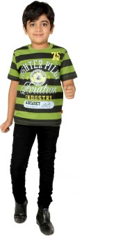 Giraffe Striped Boy's Round Neck T-Shirt