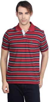 Compare Crocodile Polo Striped Men T-shirt: T-Shirt at Compare Hatke