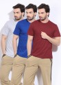 Hanes Solid Men's Round Neck T-Shirt - Pack Of 3