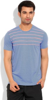 Adidas Basketball Climalite Striped Men's Round Neck T-Shirt