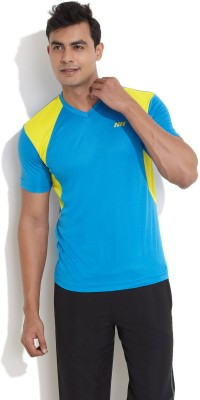 Edge Edge Solid Men's V-Neck T-Shirt (Cyan)