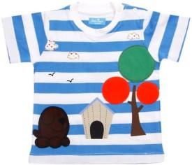 JusCubs Striped Boy's Round Neck T-Shirt